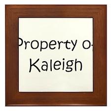 Unique Kaleigh Framed Tile