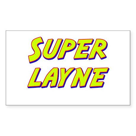 Super layne Rectangle Sticker