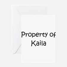 Cute Kaila Greeting Card