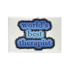 world's best therapist Rectangle Magnet