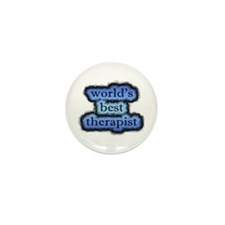 world's best therapist Mini Button (10 pack)