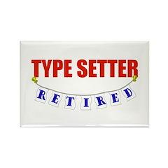 Retired Type Setter Rectangle Magnet (100 pack)