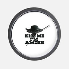 Kiss Me I'm Amish Wall Clock