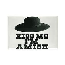 Kiss Me I'm Amish Rectangle Magnet