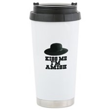 Kiss Me I'm Amish Travel Mug
