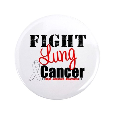 """Fight Lung Cancer 3.5"""" Button"""