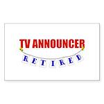 Retired TV Announcer Rectangle Sticker 10 pk)