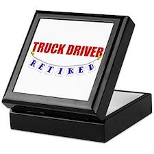 Retired Truck Driver Keepsake Box
