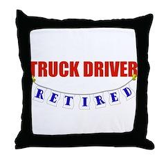 Retired Truck Driver Throw Pillow