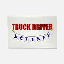 Retired Truck Driver Rectangle Magnet
