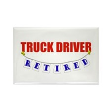 Retired Truck Driver Rectangle Magnet (10 pack)