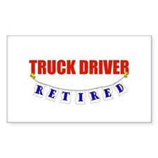 Retired Truck Driver Rectangle Decal