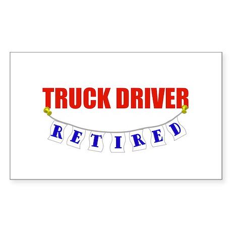 Retired Truck Driver Rectangle Sticker
