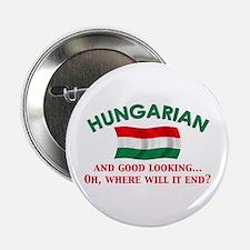 "Good Lkg Hungarian 2 2.25"" Button"