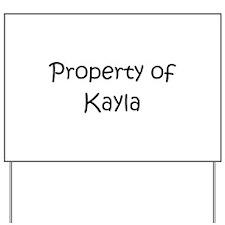 Unique Kayla Yard Sign