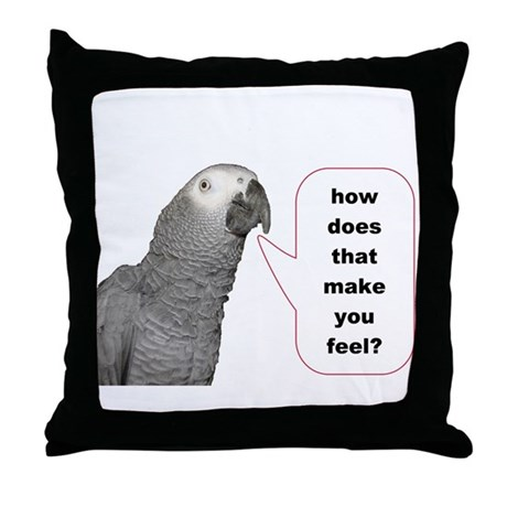 how does that make you feel Throw Pillow