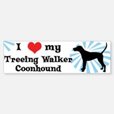 I Love My Treeing Walker Coonhound Bumper Bumper Bumper Sticker