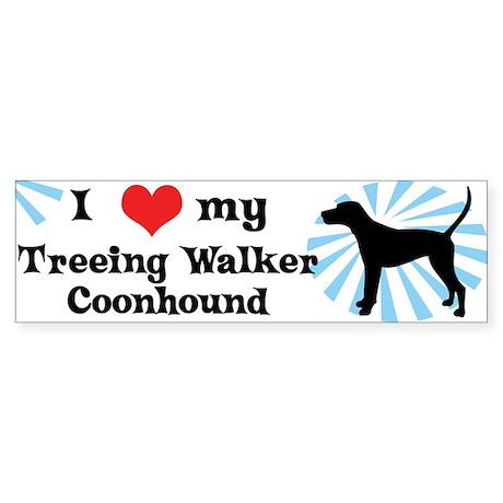 I Love My Treeing Walker Coonhound Bumper Sticker