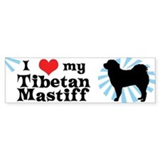 I Love My Tibetan Mastiff Bumper Bumper Sticker