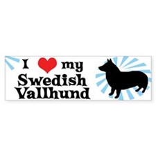 I Love My Swedish Vallhund Bumper Bumper Sticker