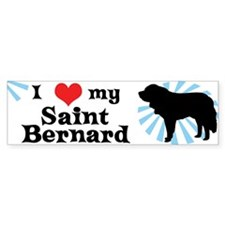 I Love My Saint Bernard Bumper Bumper Sticker