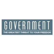 Anti Government Bumper Bumper Sticker