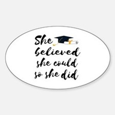 Cute College grad Sticker (Oval)