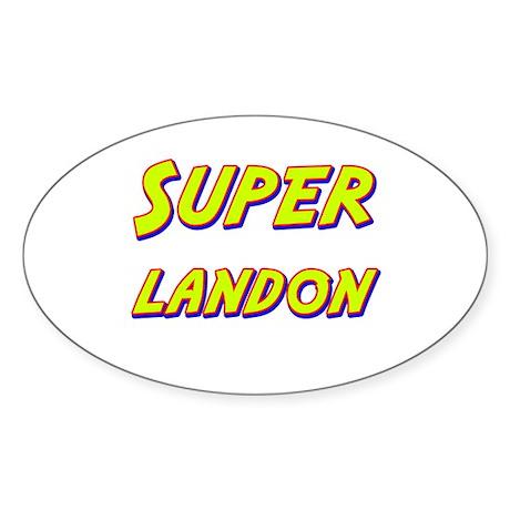 Super landon Oval Sticker
