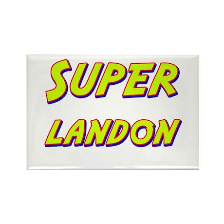Super landon Rectangle Magnet