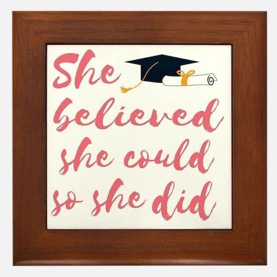 Cute Graduation Framed Tile