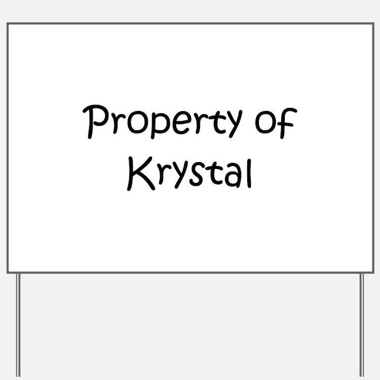 Cute Krystal Yard Sign