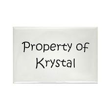 Cool Krystal Rectangle Magnet