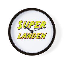Super landen Wall Clock