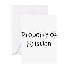 Unique Kristian Greeting Card