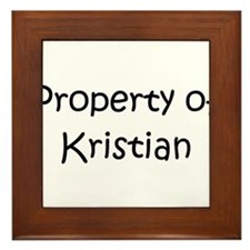 Unique Kristian Framed Tile