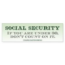 Social Security Bumper Sticker (10 pk)