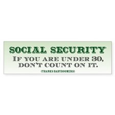 Social Security Bumper Bumper Sticker