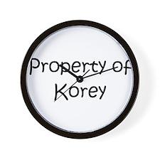 Funny Korey Wall Clock