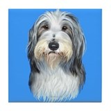 Bearded collie coaster Drink Coasters