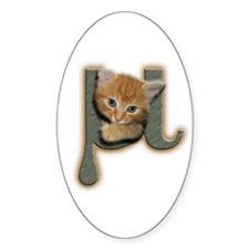 Mu Kitten Oval Decal