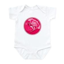 Pink Surf Logo Infant Bodysuit