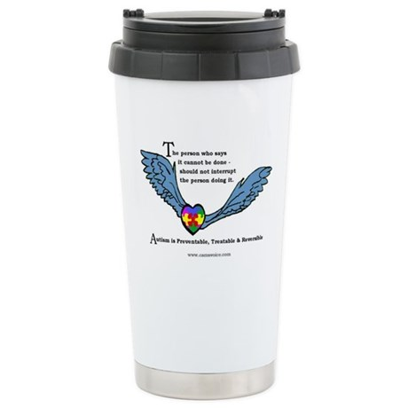 Autism is treatable; Stainless Steel Travel Mug