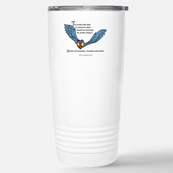 Autism is treatable; Stainless Steel Travel Mug