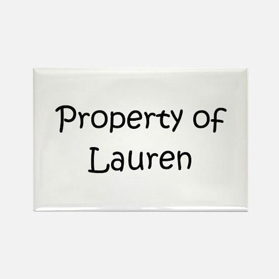 Cute Lauren Rectangle Magnet