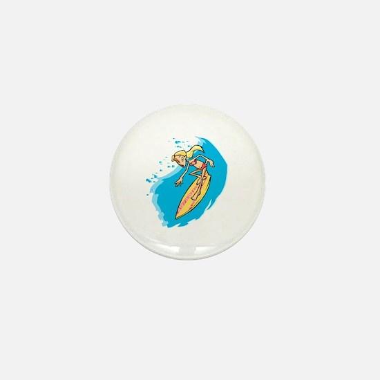 Surfer Girl Mini Button