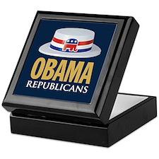 Republicans for Obama 08 Keepsake Box