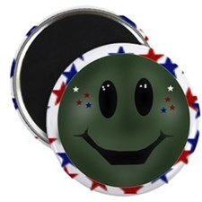 "patriotic smilie face 2.25"" Magnet (10 pack)"