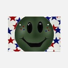 patriotic smilie face Rectangle Magnet