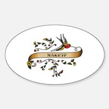 Makeup Scroll Oval Decal