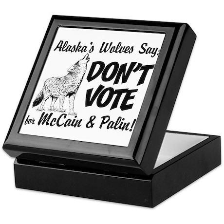 Wolves Say No Keepsake Box